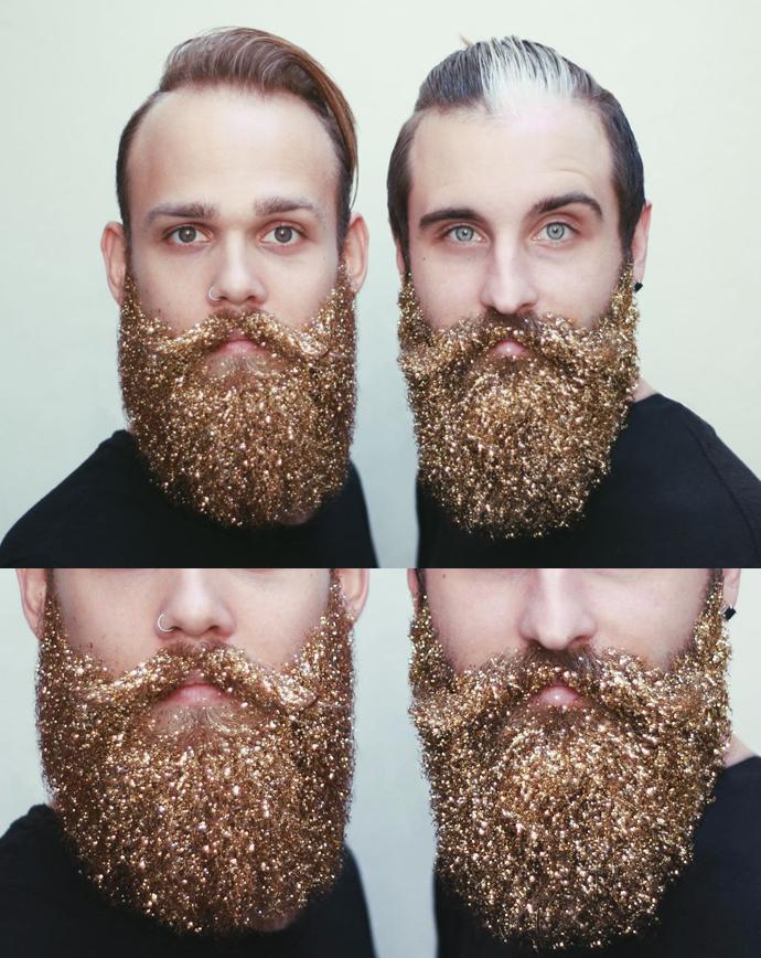 glitter skägg